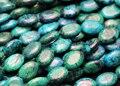 Frete grátis (2 fios/set) chrysocolla sintético 13*18mm oval contas de pedra solta