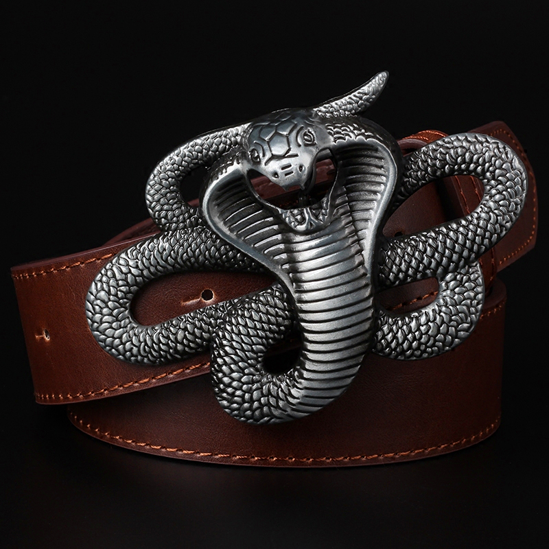 Serpent Dragon Pin Belt Buckle Western Style Fit Leather Belt DIY