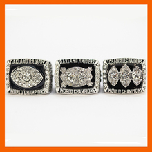 1976 1980 1983 OAKLAND RAIDERS SUPER BOWL CHAMPIONSHIP RING, 3 PCS RING SET COLLECTION