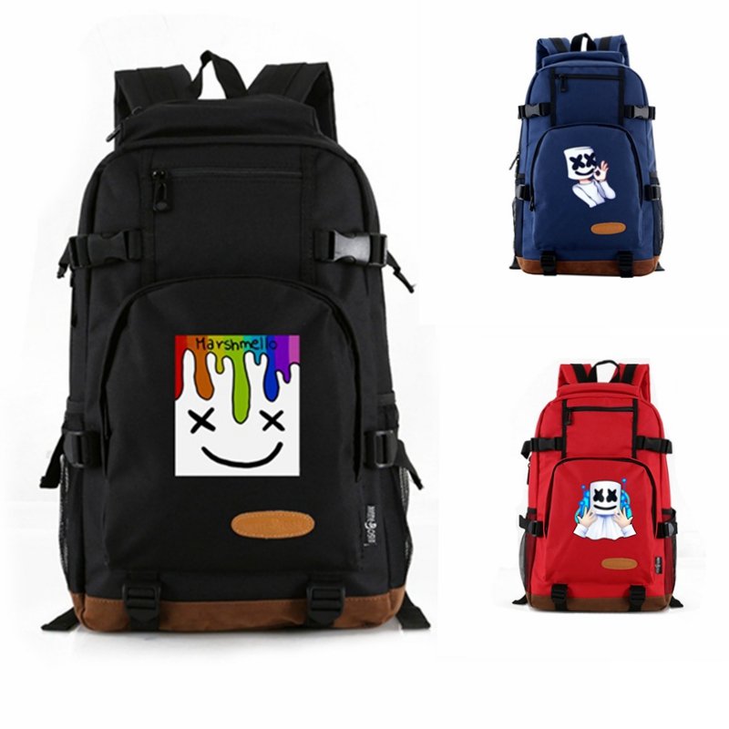 DJ Marshmello Backpack Fans Laptop School Bag Hand Bags Students Canvas Rucksack