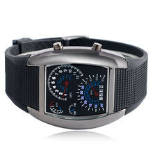 Blue&White Army LED Casual Military Men Sport Watches Rubber Band Luminous Outdoor Digital Wrist Watch Fashion Mens Clock Gift