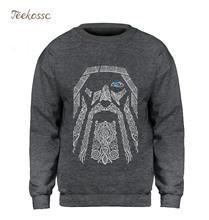 Odin Vikings Vintage bluza męska bluza bluzy z wycięciem pod szyją 2018 zima jesień polar ciepłe prezenty na dzień ojca sweter płaszcz tanie tanio teekossc Pełna REGULAR Mężczyźni Na co dzień O-neck NONE Brak Drukuj COTTON Akrylowe S-XXL Streetwear Home Beach Young and middle-aged men
