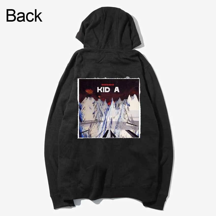 rock band smiths cure goth radiohead kid a fashion patchwork design sweatshirts zipper Hoodies outwear