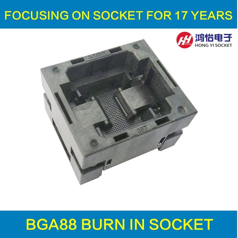 BGA88 OPEN TOP burn in socket pitch 1.0mm IC size 14*18mm BGA88(14*18)-1.0-TP01NT BGA88 VFBGA88 burn in programmer socket bga81 open top burn in socket pitch 1 0mm ic size 14 18mm bga81 14 18 1 0 tp02 50n bga81 vfbga81 burn in programmer socket