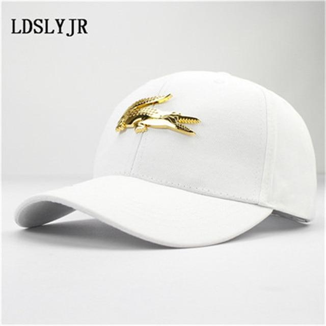 e01b64f4 LDSLYJR 2017 cotton and leather Metal crocodile baseball cap snapback cap  hip-hop hats for
