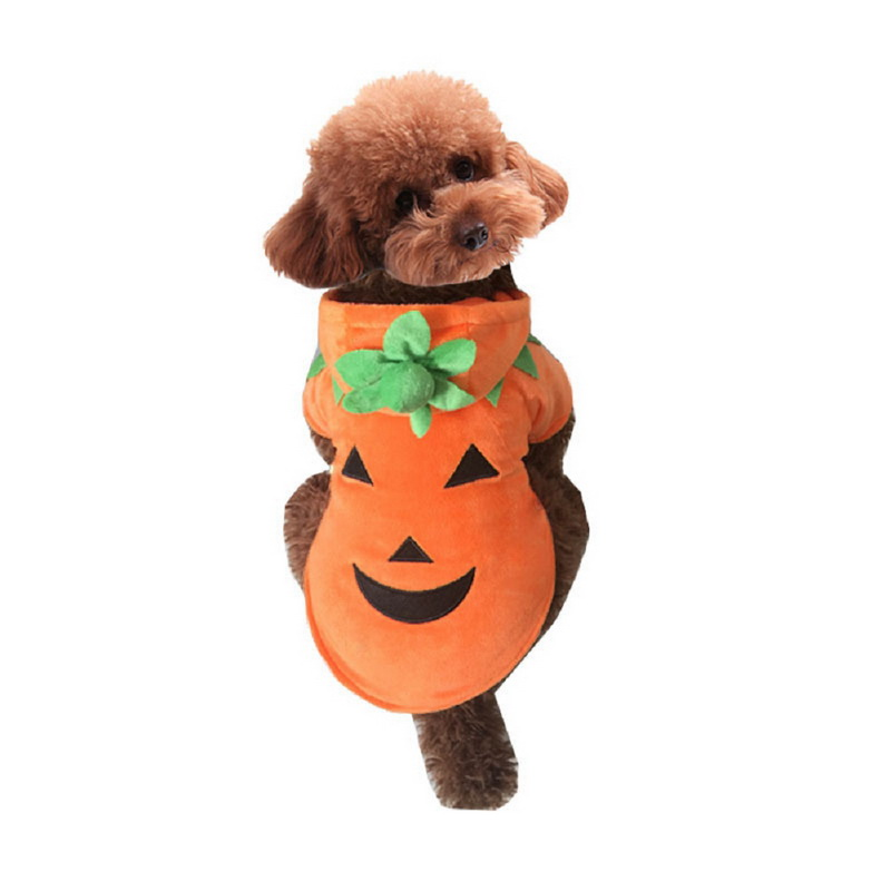 buy fashion pumpkin pet dogs clothes dog warm coats winter jacket for big dogs halloween costume large pet clothing xs 5xl from reliable