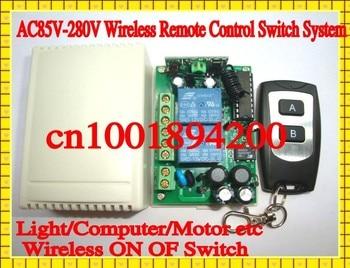 AC85V-280V Wide Range Voltage Remote Control Switch Motor Forward Reverse Controller Light Lamp LED ON OFF Remote Controller