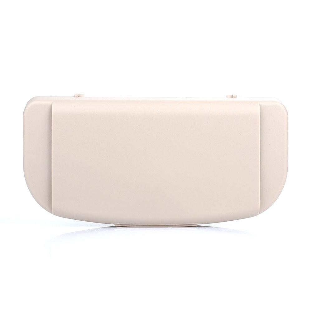 Vehemo Cars солнцезащитные очки коробка для хранения авто запчасти автомобильные очки коробка Солнцезащитная доска очки коробка для хранения очков держатель для карт - Название цвета: beige
