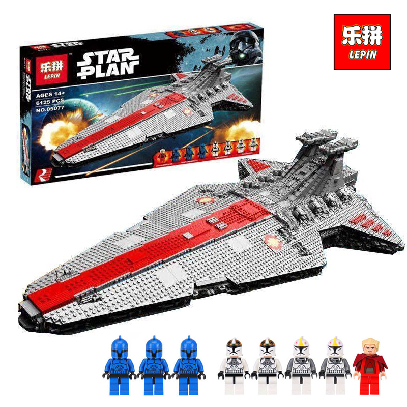 6125Pcs 05077 Lepin Star Classic wars ucs Republic Cruiser Educational Building Blocks Bricks Toys Model MOC legoINGlys Gift lepin 05077 star destroyer wars 6125pcs classic ucs republic cruiser funny building blocks bricks toys model gift