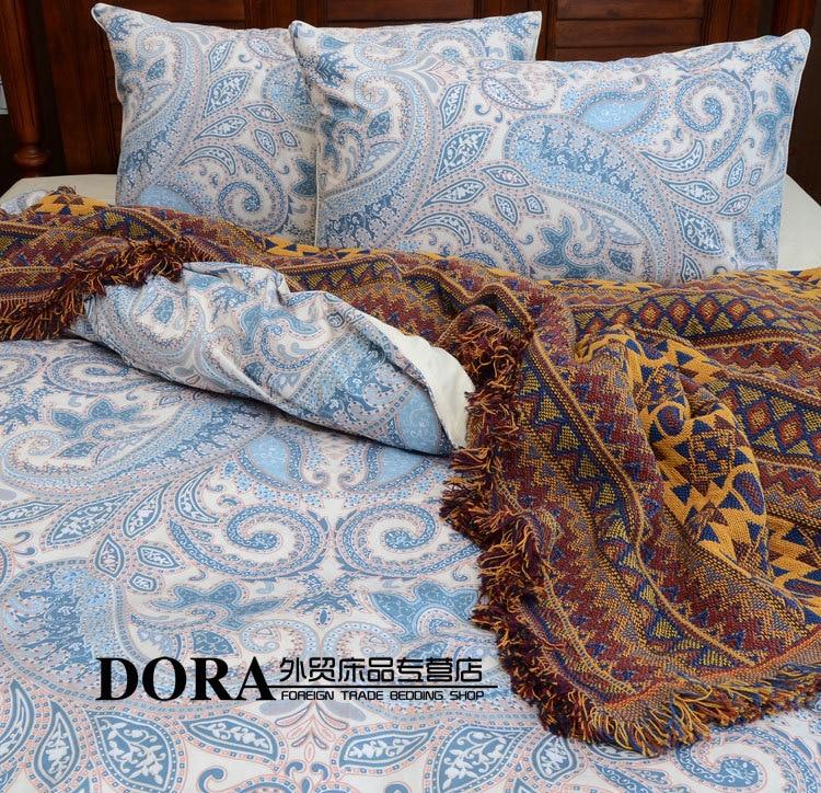 linge de lit américain NºRétro Paisley Coton satin ensembles de literie linge de lit  linge de lit américain