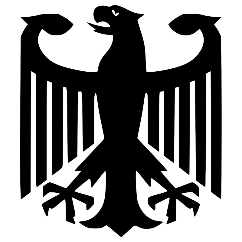 2 Germany Coat of Arms Flag Decals Stickers