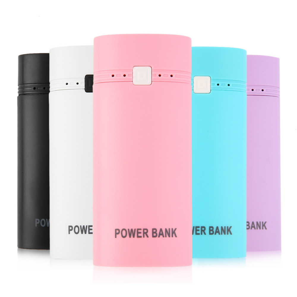 2016 Newest Portable USB Power Bank Case DIY Kit 18650 Mobile Battery Cell Phone Charger lighter 5 Colors For Choice image