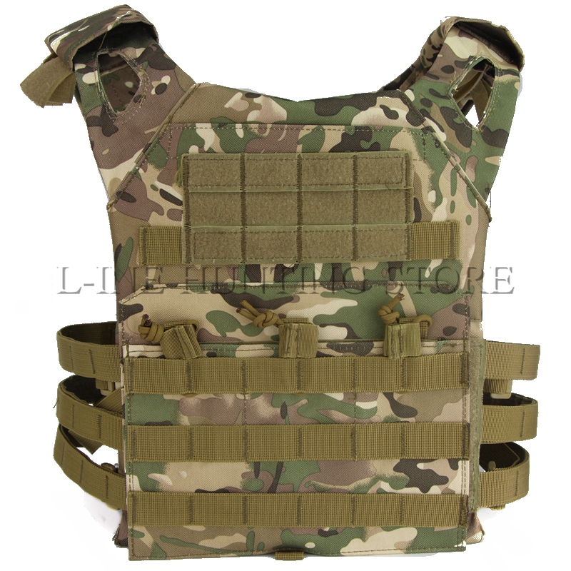 Tactical Military JPC Molle Vest Multicam Camo Springs Tactical Airsoft Hunting Vest Plate Carrier Vest for Paintball Shooting стоимость