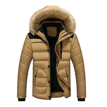 Winter Jacket Men Warm Thicken Coat High Quality Famous Cotton-padded Fashion Parkas Elegant Business Plus Size