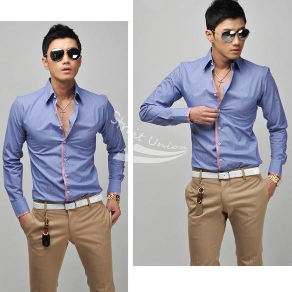 Hot New Korean Men 39 S Fashion Stylish Casual Shirts Slim
