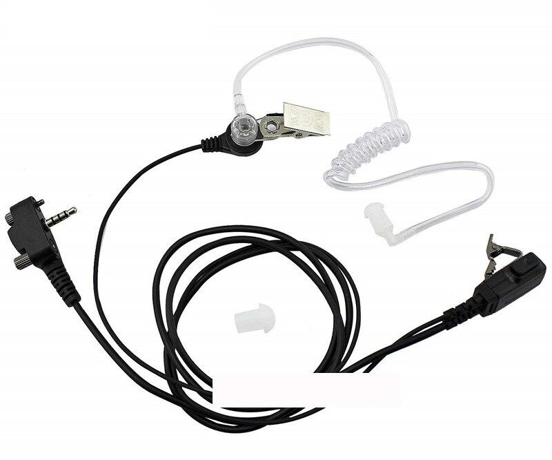 5pc Covert Acoustic Air Tube Earphone Headset Earpiece PTT Mic For Vertex Standard Radio VX-454 VX-459 VXF-1 VXF-10 VXF-20