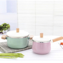 kitchen pots Enamelled Soup Pot Boiler Milk Pan Non Sticky Frying Pan with Induction Dish and Gas Applicable Stove instant pot