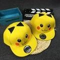 Cartoon Pikachu Pokemon Yellow Men Anime PockeCosplay Go Snapback Costume Props Baseball cap For Women And Men HT004