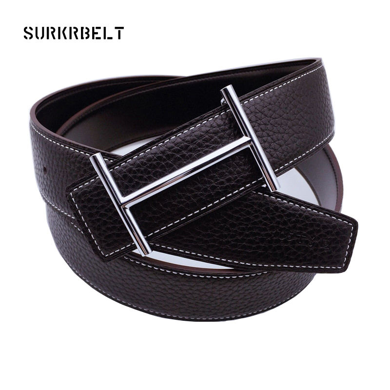 2018 Luxury H Buckle Brand Designer Belts Men High Quality Women Punk Genuine Real Leather Male Strap for Jeans h Leather