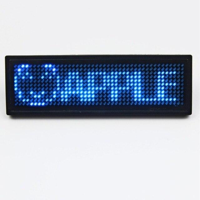 5 компл./лот Синий светодиод Программируемые Прокрутка Имя Сообщение Знак Тегов Цифровой Дисплей Поддерживает Английский, русский