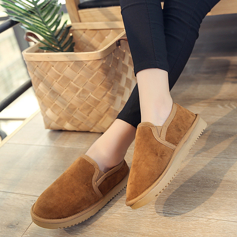 Women Ankle boots warm fur flat winter casual shoes 2018 Fashion comfort women snow boots  slip on lazy shoes plus size 35-44 2017 fashion winter flat fur shoes women rabbit fur tide lazy shoes slip on casual plus velvet loafer shoes autumn new arrival