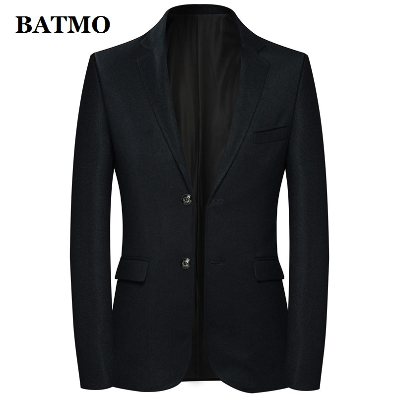 Batmo 2019 ใหม่มาถึงคุณภาพสูงผ้าขนสัตว์ลายสก๊อต casual blazer, ชุดบุรุษแจ็คเก็ต, เสื้อลำลองผู้ชาย 8128-ใน เสื้อเบลเซอร์ จาก เสื้อผ้าผู้ชาย บน   1