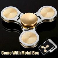 DODOELEPHANT TL 2 Hand Spinner Fidgets Spin Alloy Brass Metal Fidget Spinner For Autism Kids Adult