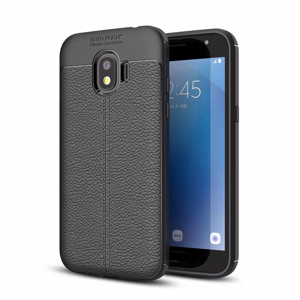 Для samsung Galaxy J2 Pro 2018 J250F J2 2018 ультра тонкий искусственная кожа чехол Гибкая ТПУ Резиновая силиконовый защитный случаи Обложка
