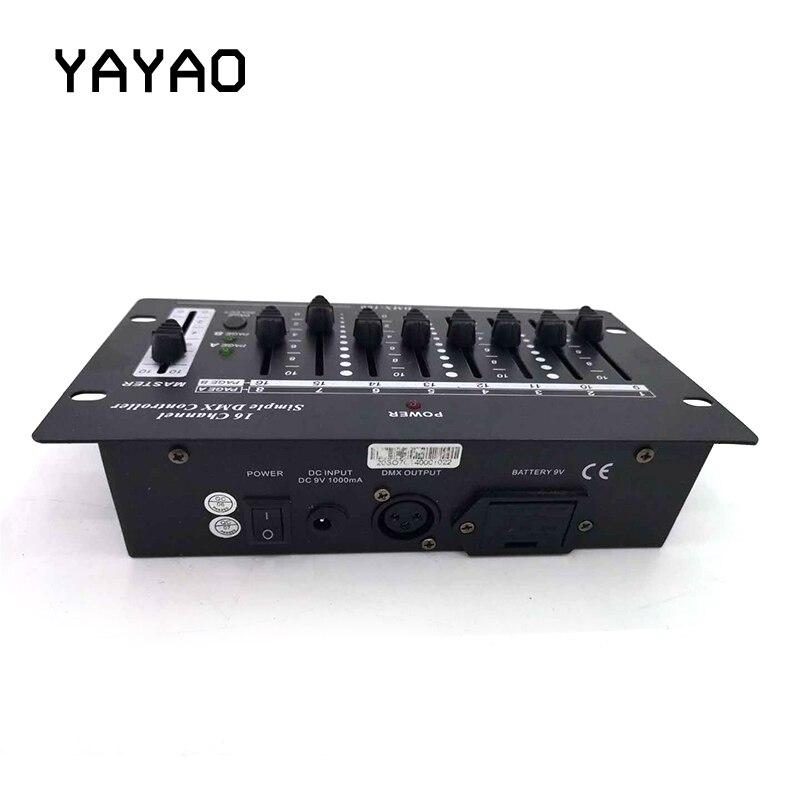 יה יאו כף יד מיני 16 ערוצים אלחוטי Dmx קונסולת לבית KTV DJ שלב אור יכול להשתמש 9V סוללה קונסולת תאורת במה-באפקטי תאורה לבמה מתוך פנסים ותאורה באתר Lke889520guoguo Store