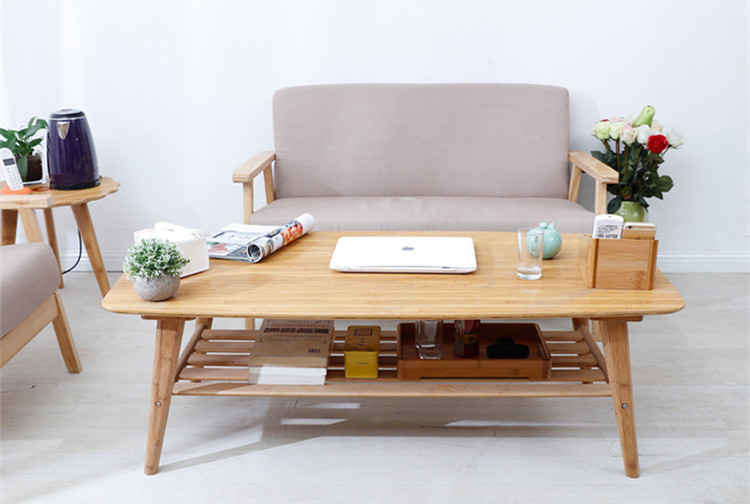 Delightful Aliexpress.com : Buy Modern Coffee Table Bamboo Furniture Living Room  Rectangle Low Tea Center Table Design Indoor Sofa Side Bamboo Table With  Shelf From ...