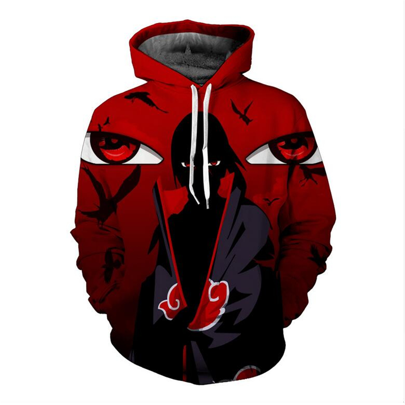 MenWomen Cartoon Characters Uzumaki NarutoSasuke 3d Anime Hoodie Sweatshirt Long Sleeve Outerwear Casual Pullovers Jacket