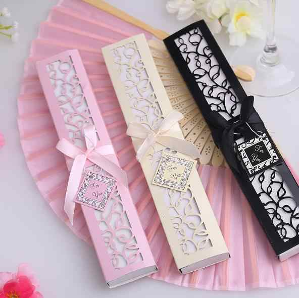 12pcs Lot Silk Fan In Gift Box Wedding Souvenirs Favors And Gifts For Guests