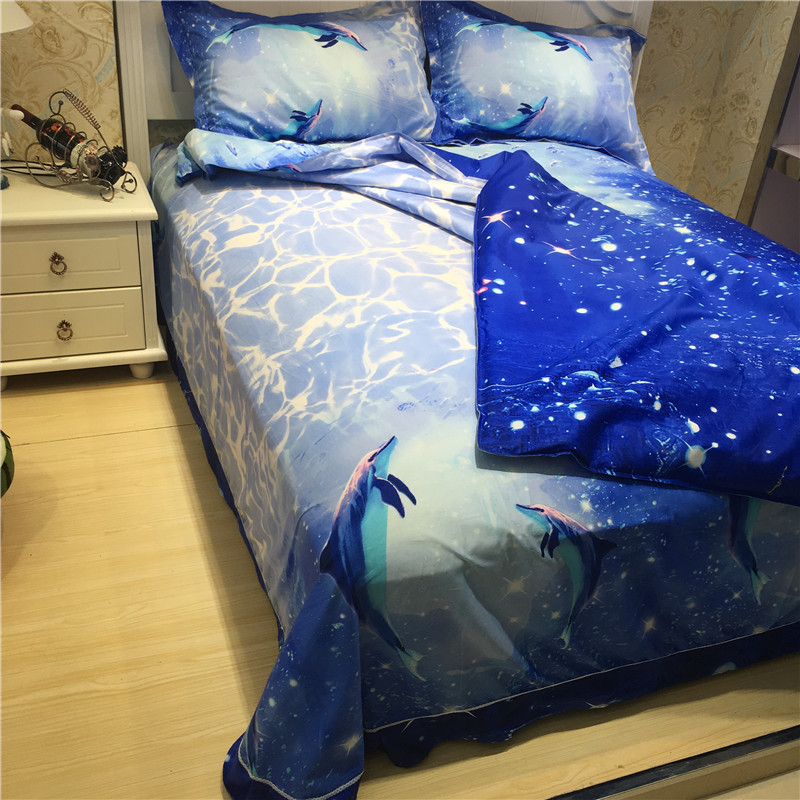 Permalink to Bedding Set 100% Cotton Whale 3/4pcs Blue Bedding Sets Children's Bed Linen Duvet Cover Bed Sheet Pillowcase Home Textile