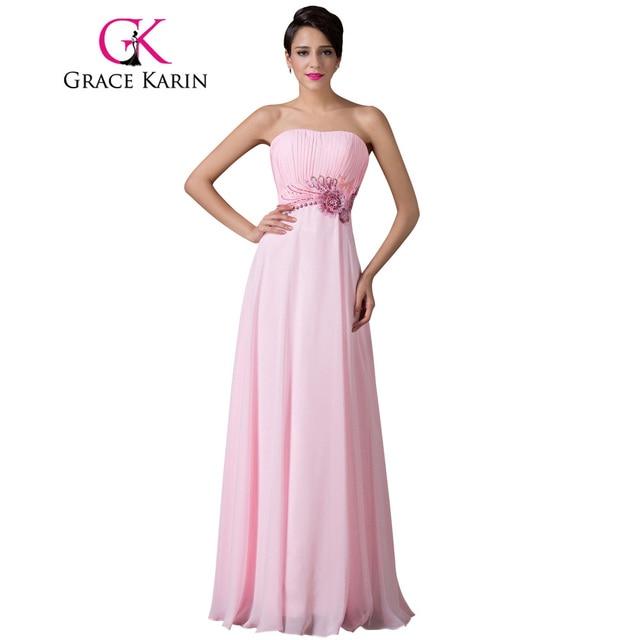 lange roze jurk