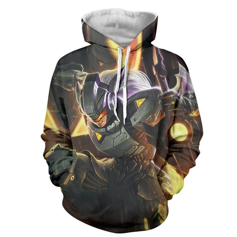 3d Hoodie <font><b>Men</b></font> Game <font><b>League</b></font> <font><b>of</b></font> <font><b>Legends</b></font> Anime Hoodies <font><b>Cosplay</b></font> Costumes Sweatshirts Tracksuit Casual Hooded Jacket Pullover Clothing image