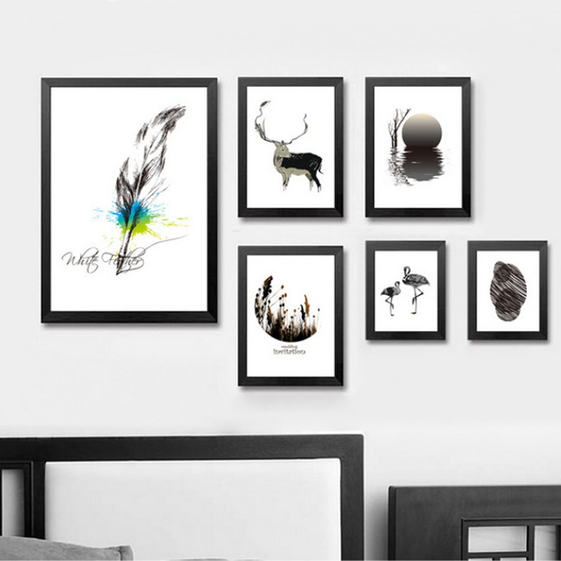 Naturaleza nórdica Lienzo Pintura Animales Cartel POP Arte de la - Decoración del hogar