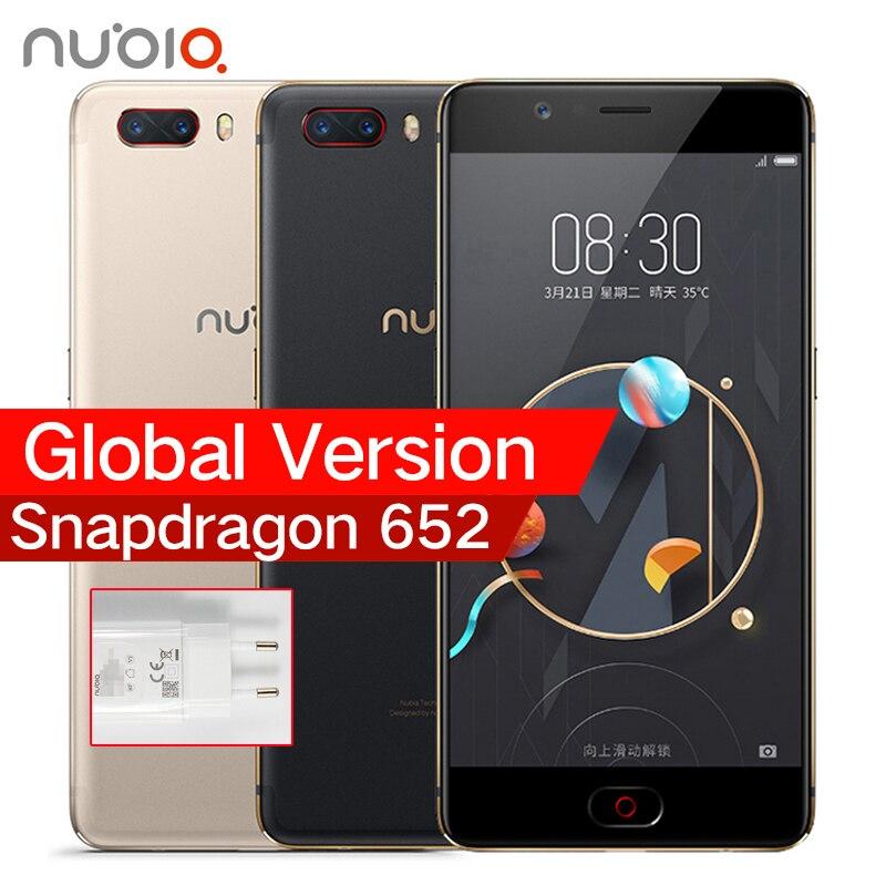 Глобальная версия zte Нубия M2 4 г LTE Snapdragon 625 сотовый телефон 5,5 «1080 P 4 г Оперативная память 64 ГБ Встроенная память 16.0MP 3630 мАч Батарея мобильного телефона