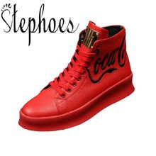92ae3af45ca8 Stephoes 2019 Nouvelle Arrivée Hommes Mode Top Haute Sneakers De Luxe  Casual Chaussures Hommes Bottes Mode