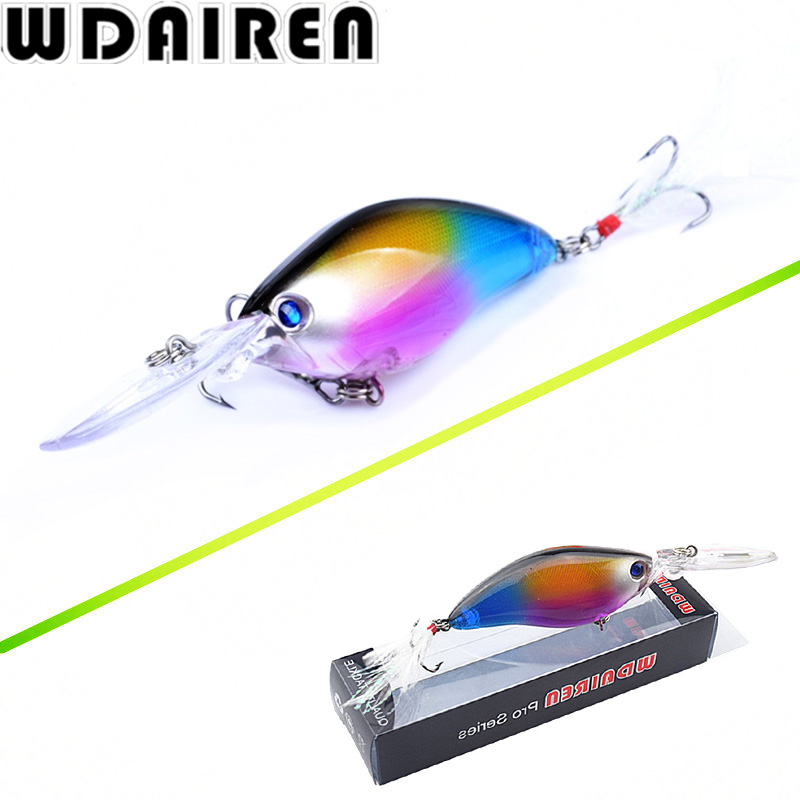 WDAIREN Crank Wobblers Swim bait 11cm 18g Fishing Lures 6 Colors Laser Artificial Hard Bass Fishing Lure Tackle CrankBait WD-425 free shipping fishing lure mini crank bait artificial 35mm 3 8g hard baits minnow lures crankbait carp fishing tackle
