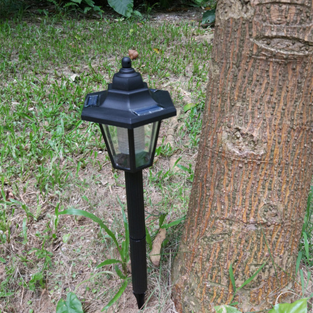 Yiyang Solar Led Landscape Mount Garden Yard Fence Lamp Light Outdoor Solarie Luces Para Casa