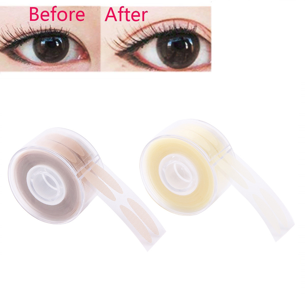 600 Pcs Invisible Eyelid Tapes Natural Breathable Eyelid Stickers Different Shapes Instant Eye Lift Well Eyelash Extension Tape