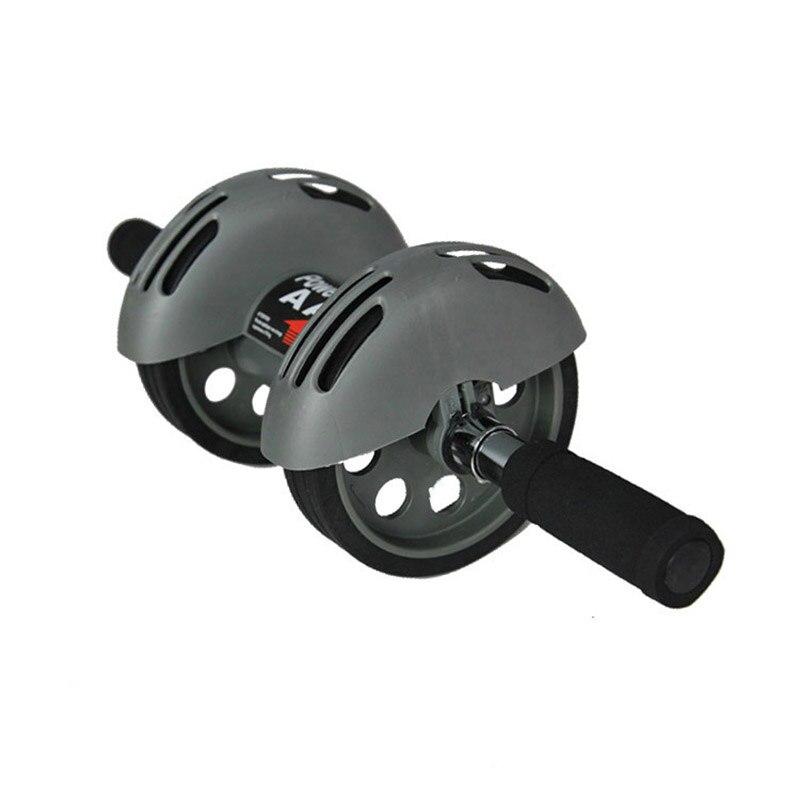 Nouvelle roue abdominale saine muette taille mince Abdomen Double roues Ab rouleau Muscle formateur gymnastique Ab rouleau exercice Fitness