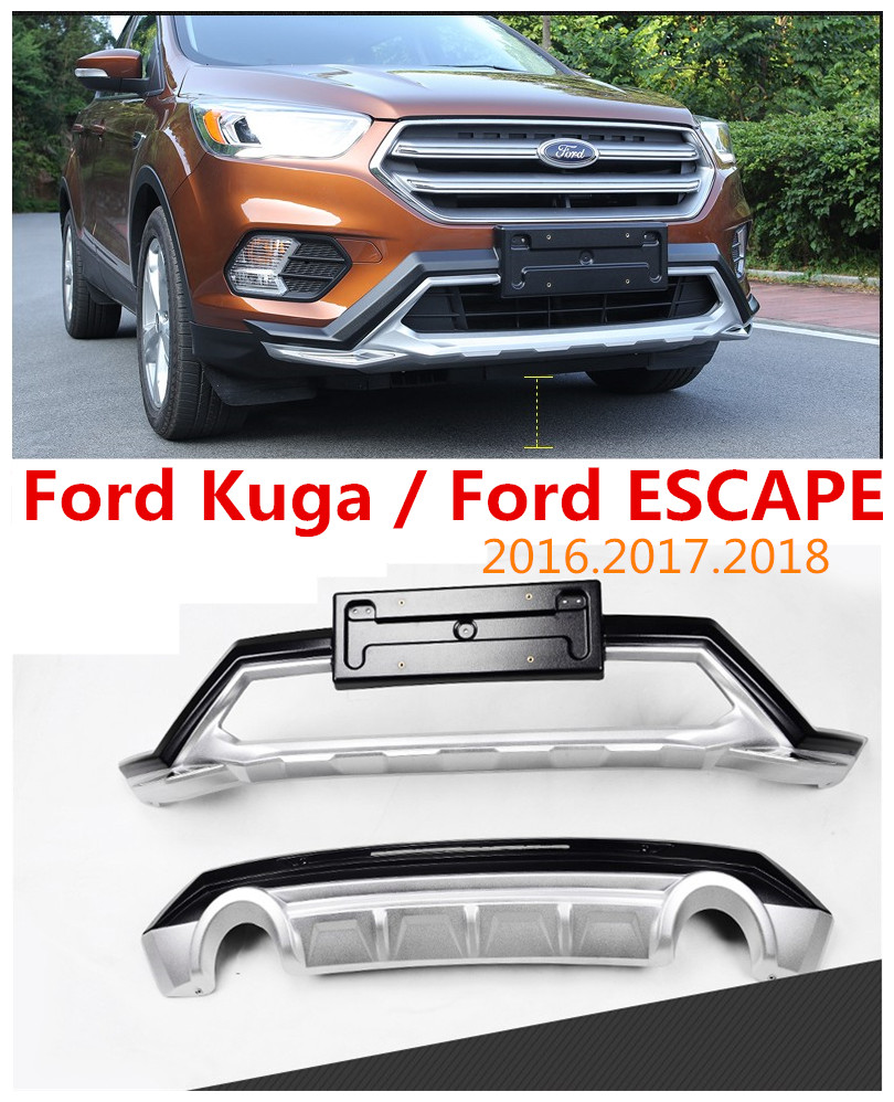 auto bumper guard for ford kuga escape bumper plate high quality brand new abs. Black Bedroom Furniture Sets. Home Design Ideas