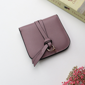 2019  New Genuine Cow Leather ladies cute slim wallet metal ring tassel purse women fashion cow leather bag