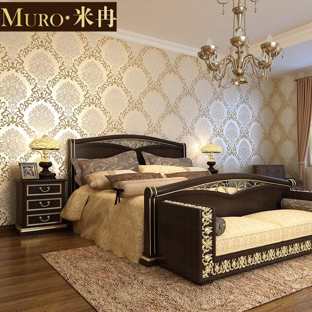 Royal non woven 3D stereoscopic wallpaper Flocking bronzing noble ...