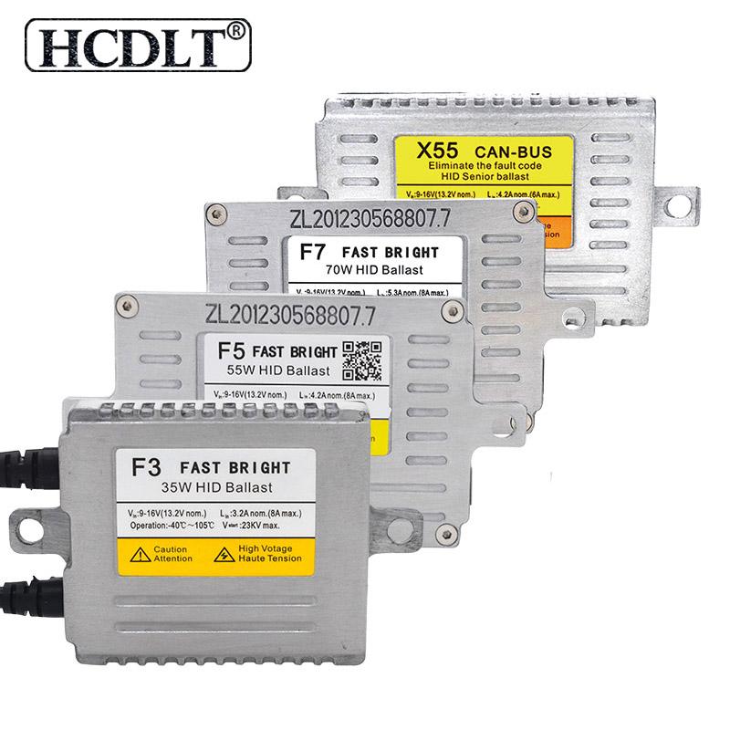 HCDLT AC 12V 35W 55W 70W Xenon HID Ballast Reator DLT F5T F3 F7 F5 Fast Start X35 X55 Canbus HID Slim Ballast Car Light Retrofit