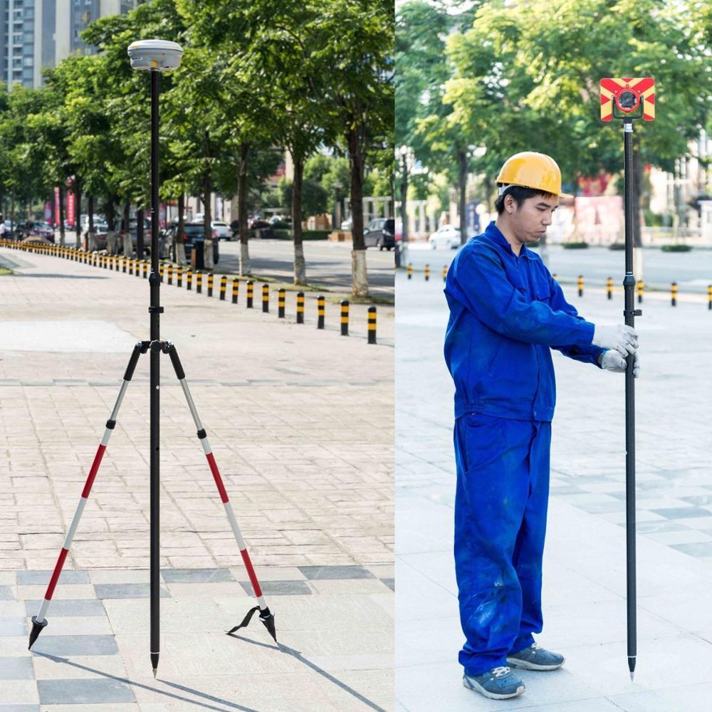 NOVA Liberação do Polegar Bipé levantamento de fibra de carbono pólos GPS. com Prisma Pólo GPS