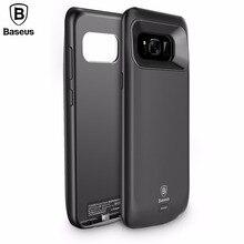 BASEUS Батарея Зарядное устройство чехол для Samsung Galaxy S8/S8 плюс 5000 мАч/5500 мАч резервного копирования Запасные Аккумуляторы для телефонов Портативный внешний Мощность Bank Дело