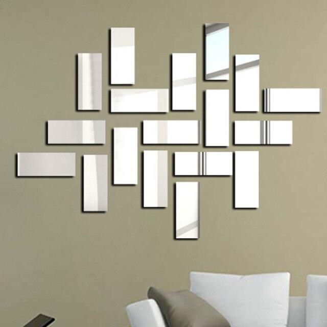 aliexpress : sonderangebot moderne acryl 3d aufkleber quadrat, Hause deko