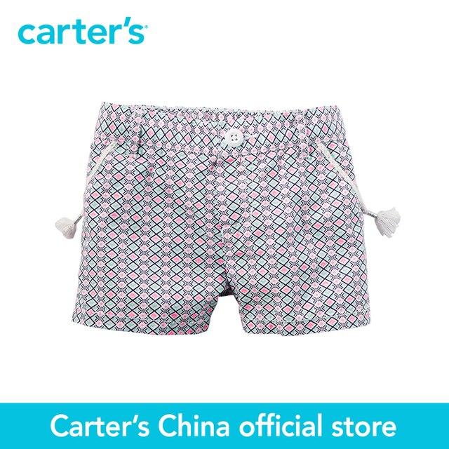 1-часть картера детские дети kidsPrinted Плетеной Отделкой Поплин Шорты 258G162, продавец картера Китай официальный магазин